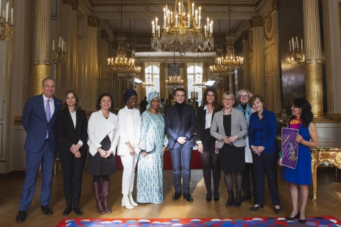 French President Emmanuel Macron Meets with UN Women Executive Director Phumzile Mlambo-Ngcuka to Discuss Progress on Generation Equality Forum